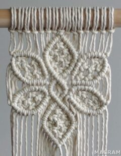 Photo of DIY Macrame Tutorial: Large 6 Petal Flower Using Double Half Hitch and Square Knots!