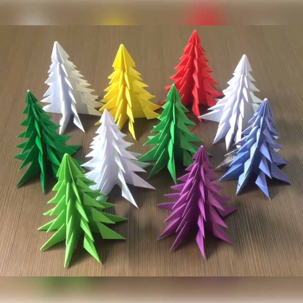 Photo of 3D Paper Christmas Tree | How to Make a 3D Paper Xmas Tree DIY Tutorial