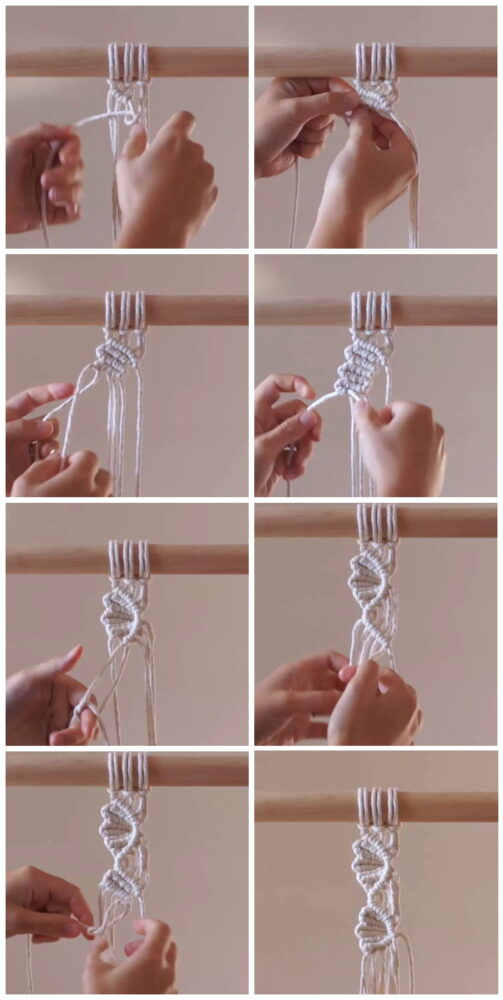 Photo of DIY Macrame Tutorial: How to Create a One-Sided Vine/Leaf Pattern!
