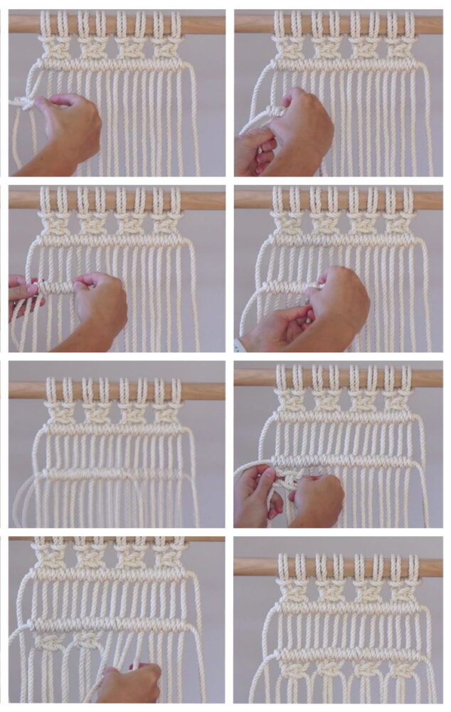 Photo of DIY Macrame Tutorial: How to Tie a Straight Line of Double Half Hitch Knots!
